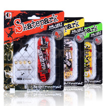 3 pçs/lote Chegada Liga Stand Caixa de Varejo de plástico Mini FingerBoard Dedo Skate Mini Skate de dedo Skate de Dedo Toy Kids