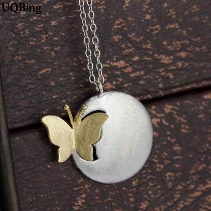 Free Shipping 2015 New Arrivals 925 Sterling Silver Necklaces Butterfly Sterling Silver Necklaces&Pendants Collar Colar