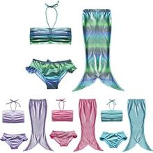 Ariel The Little Mermaid Tails Princess Halloween Cosplay Costume Girl Swimming Suit Kids Cheap Swimmable Merid-Tail Fancy Dress