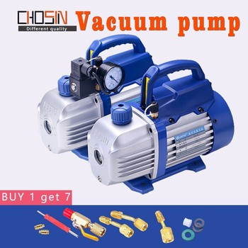 150W 220V Rotary Vane Single Stage Mini Vacuum Pump For Air Conditioning With Refrigerant Table Pressure Gauge Refrigerant Tube