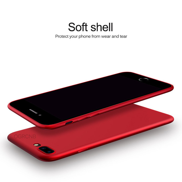 Luxury Back Matte Soft Silicon Case For iPhone 7 Cases 6S 7 Plus 6 Candy Full Cover For iPhone 7 Case Plus Phone Coque Fundas