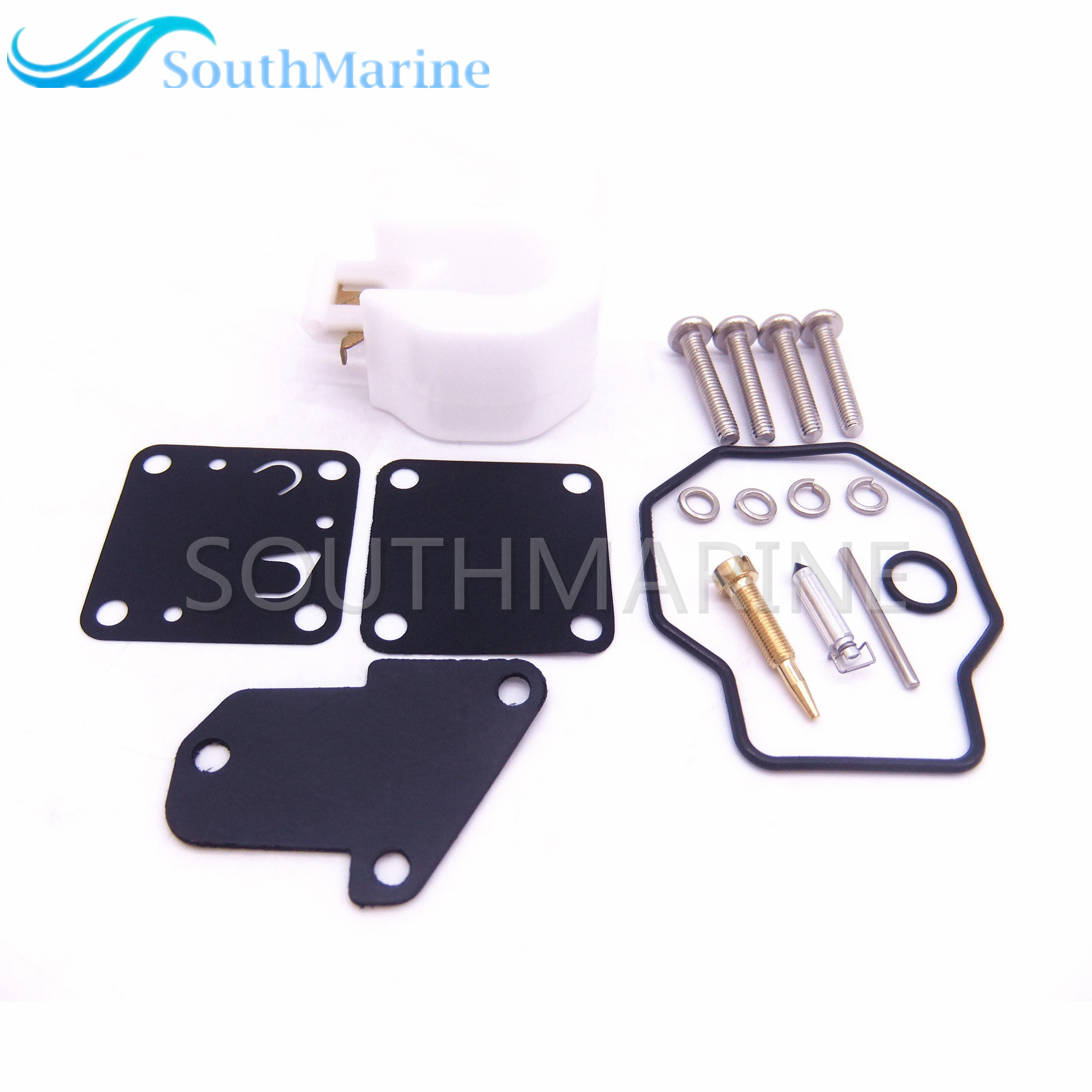 6E3-W0093 6E0-W0093 Boat Motor Carburetor Repair Kit for Yamaha 4HP 5HP 4M 5M Outboard Engine, Free Shipping
