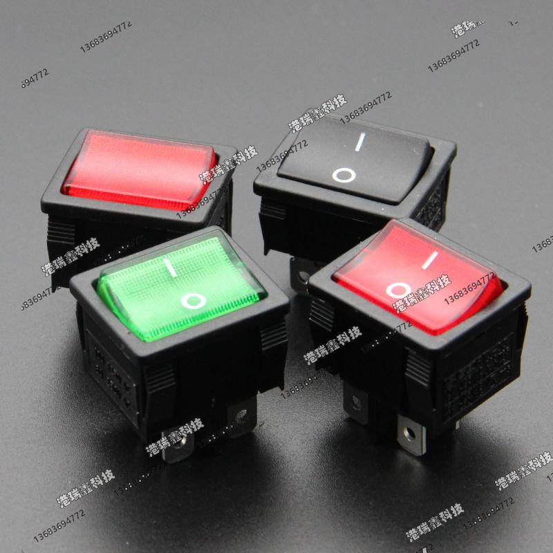 [SA]Power switch Taiwan New SCI -way rocker switch legs in black square Rocker Switch R13-33A 4P2T--50pcs/lot image