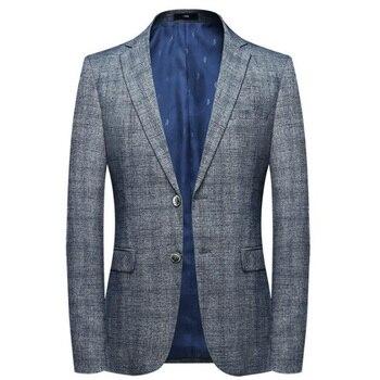 2019 New arrival spring high quality cotton plaid casual blazer men,men's suits jackets ,casual jackets mens blazer