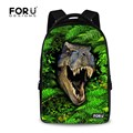 Fashion 3D Animals Backpack Children Dinosaur Backpacks,Cool 17 inch Men's Travel Laptop Backpack Teenager Boys School Bag