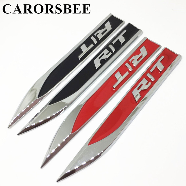 Carorsbee 1 pair zinc alloy black red rt rt emblem badge decal 3d carorsbee 1 pair zinc alloy black red rt rt emblem badge decal 3d metal publicscrutiny Image collections