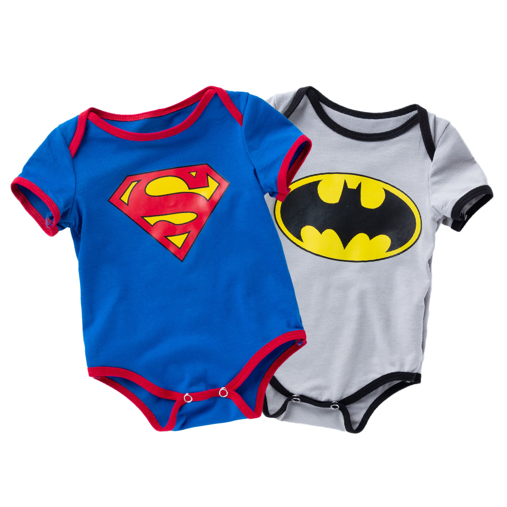 Fashion Superman Batman Baby Boys Rompers Jumpsuit Cotton Outfit Clothes Set Newborn Toddler 0 24M Kids Clothes Bebek Tulum in Rompers from Mother Kids