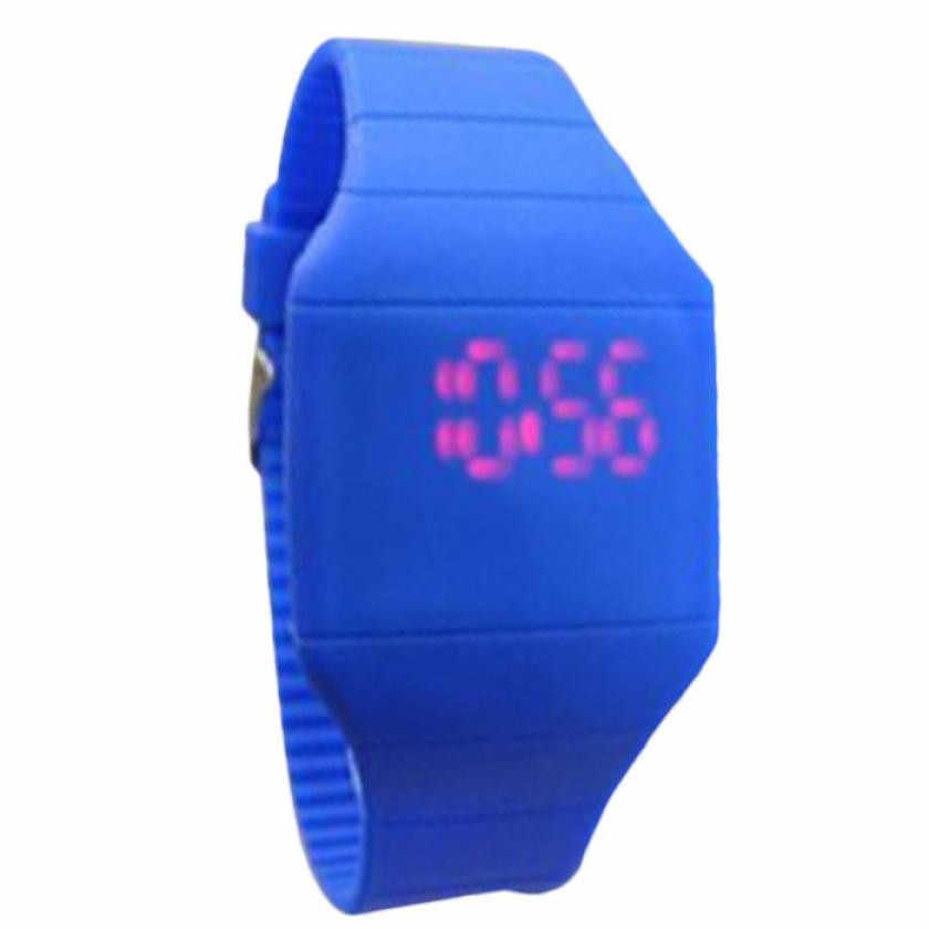 New sales kids smart watch Children jelly shape cartoon slim LED Simple Outdoor Sports watch The latest children watch Digital