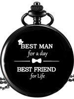 Лучший подарок для мужчин, черные карманные часы, свадебные подарки и подарки для гостей, подарок для жениха, подарок, свадебный сувенир