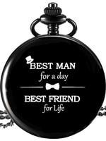 Лучший подарок для мужчин черные карманные часы свадебные сувениры и подарки для гостей подарок свидетелю подарок свадебный сувенир
