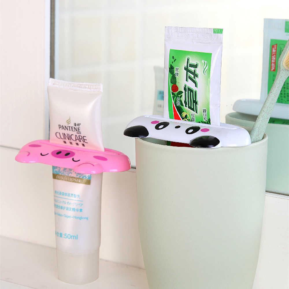 Distributeur de dentifrice Animal support en plastique Tube à rouler presse-agrumes pâte à dents extrudeuse maison salle de bain accessoire fournitures