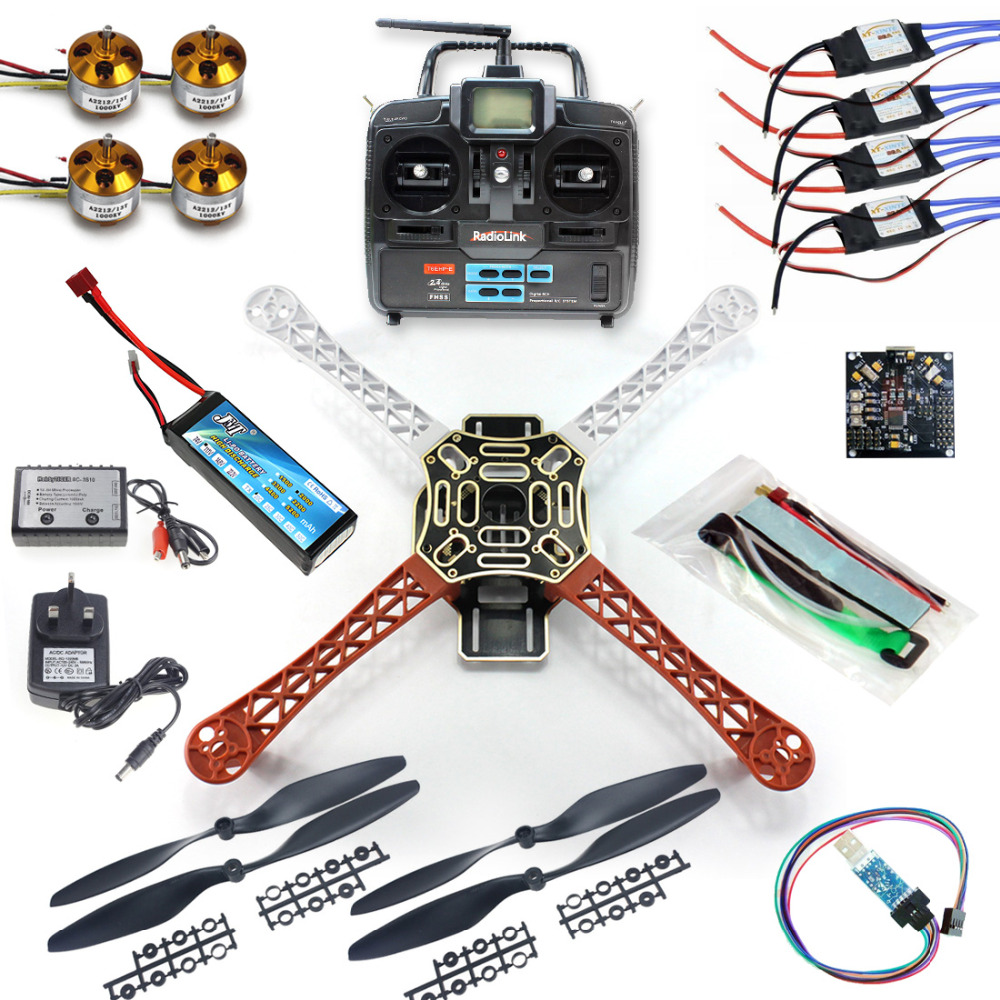 JMT 4 axle RC Multi QuadCopter Drone RTF ARF KK V2.3 Circuit board 1000KV Motor 30A ESC Lipo F450 Frame Kit  6ch TX RX F02192-A f04305 sim900 gprs gsm development board kit quad band module for diy rc quadcopter drone fpv