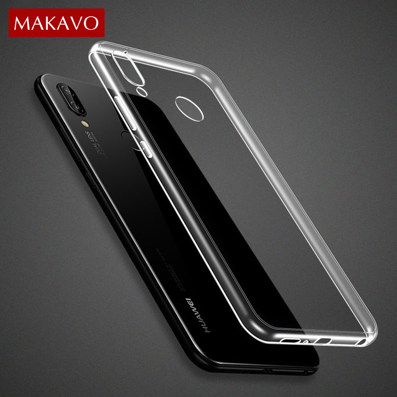 Objective Makavo Premium Tpu For Huawei P20 Lite Case Slim Fit Transparent Silicone Clear Soft Back Cover For Huawei P20 Pro Phone Cases Suitable For Men Women And Children
