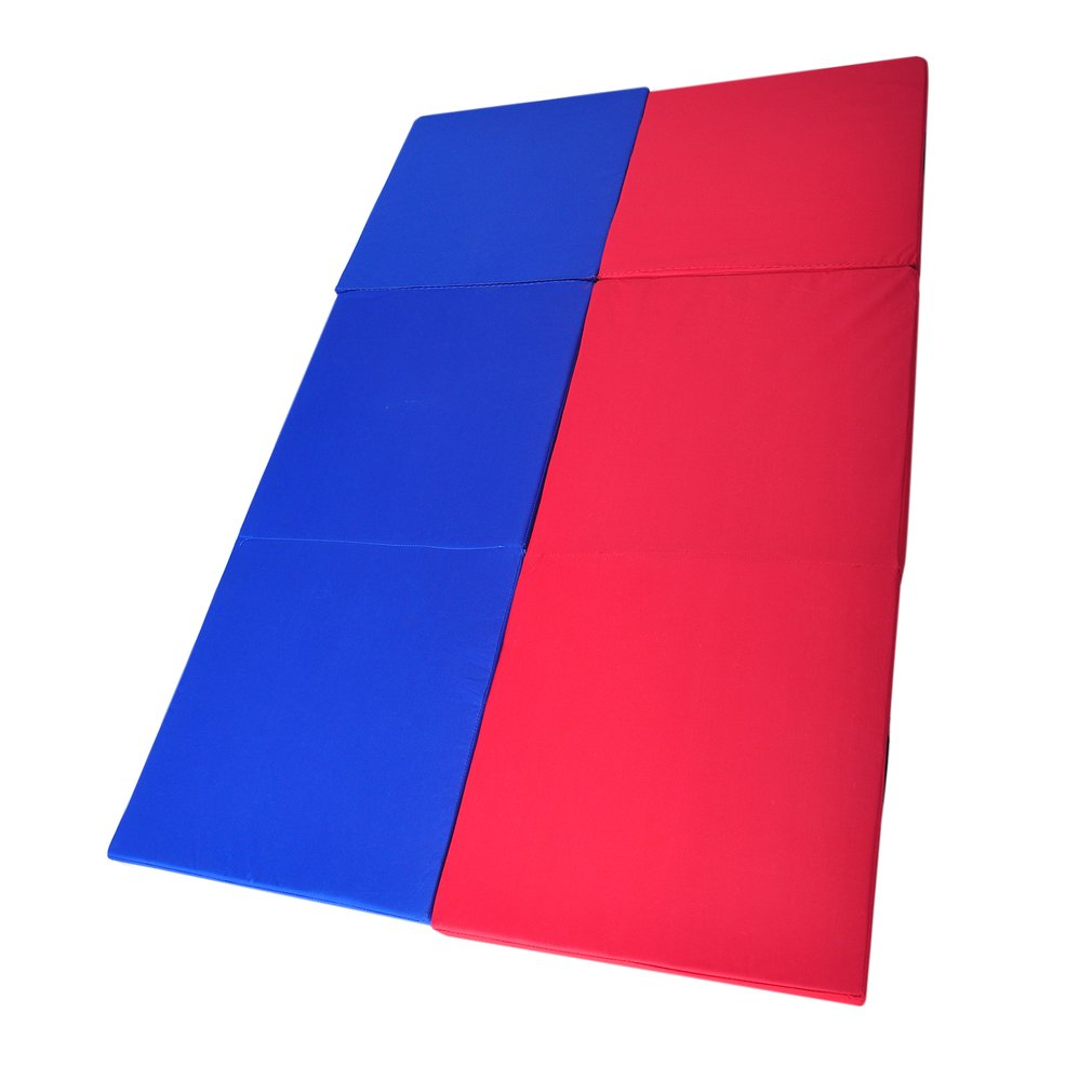 180*60*5cm Folding Yoga Mat Pearl Wool Soft Dance Pads Three Fold Gymnastics Mat Pilates Sports Training Exercise Sit-up Mat gymnastics mat thick four folding panel fitness exercise 2 4mx1 2mx3cm