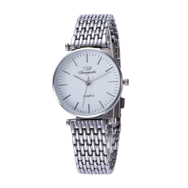 2018 women men couples lovers stainless steel quartz wristwatches office ladies gentleman dress simple business bracelet watch