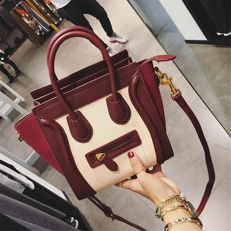 Hottest Luxury Famous Brand Women Shoulder Bag Leather Smiley Tote Bags Messenger Bags Feminias Bolsas Smiling Face Handbags Sac luxury famous brand women female ladies casual bags leather hello kitty handbags shoulder tote bag bolsas femininas couro
