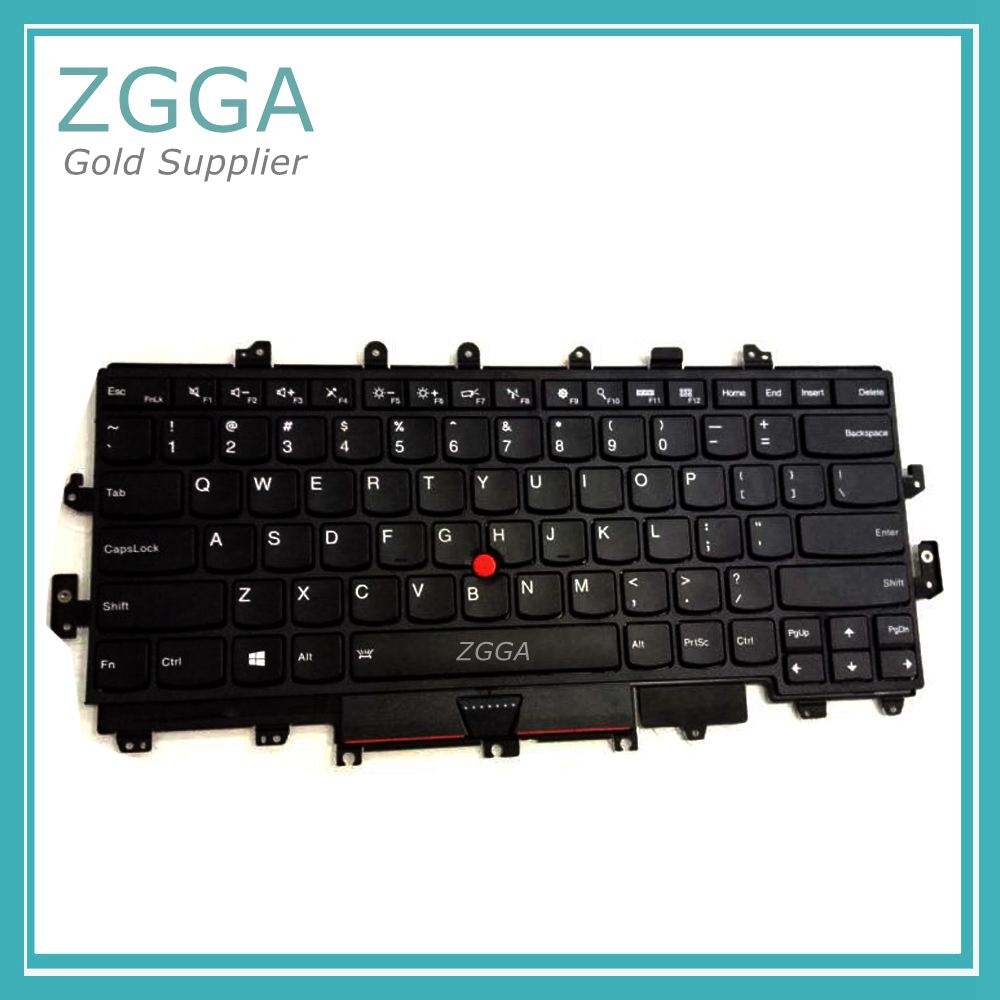 Genuine NEW Laptop Keyset for Lenovo Thinkpad X1 Yoga Built-in Keyboard US English Layout Backlit 00PA072 01AW927 00JT888 new laptop keyboard for lenovo thinkpad x230 t430 t530 w530 ru russian layout