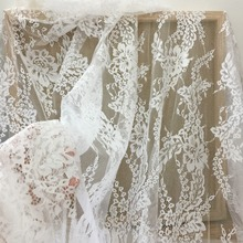 5 yards/lot Elegant Floral Chantilly Lace Fabric for Wedding Gown Prom Dress Bridal Lining Outfits160cm wide