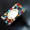 Новый 3D Bling Crystal Diamond Case For Iphone 6 6 s 6 splus i6plus 5.5 Леди Зеркало Для Макияжа Розовый Горный Хрусталь Coque Funda Carcasa Крышка