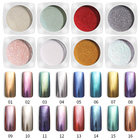 PinPai 16 Colors Nail Mirror Powder Glitter Chrome Nail Art Dip Powder Pigment Shiny Mirror Manicure Nails Tips Glitter Powder