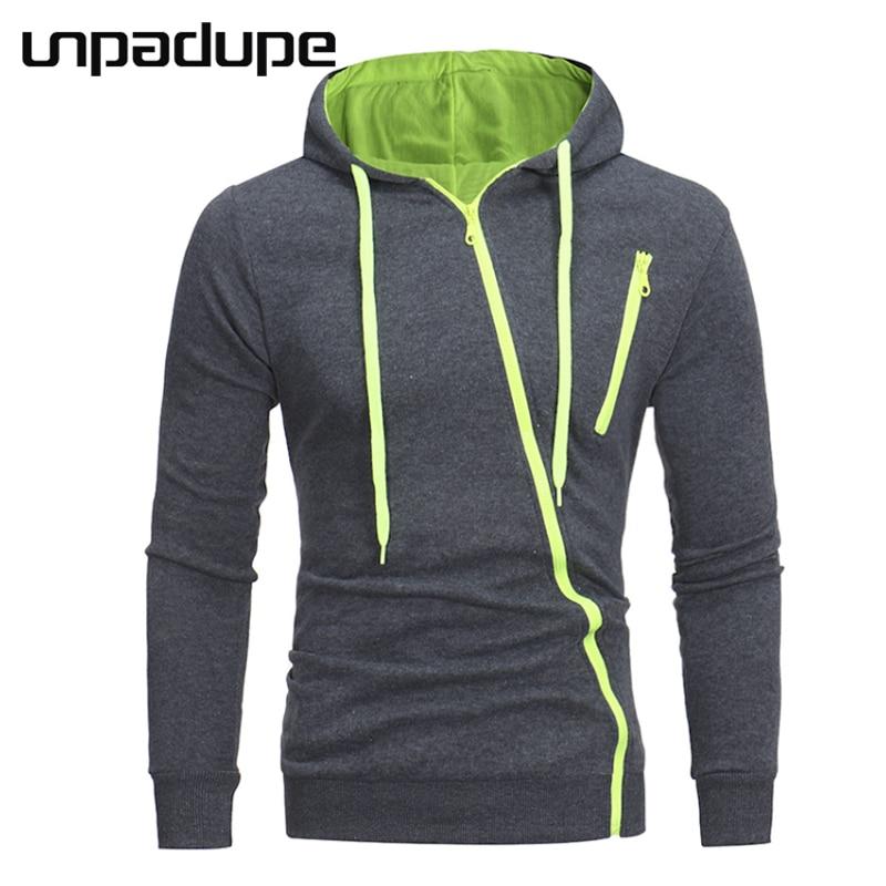 Unpadupe Marke Hoodies Männer 2018 Männlichen Langarm Hoodie Eigenschaften Zipper Sweatshirt Herren Moletom Masculino Hoodies Schlanke Trainingsanzug