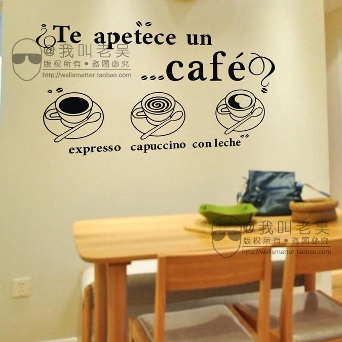 Coffee Shop Sticker Milk Tea Decal Cafes Ice Cream Bread Cake ...
