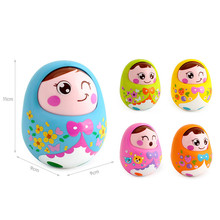 Baby Rattles Toddler Tumbler toy Cartoon Nodding push and shake  music educational toys learning christmas gifts simulate funny