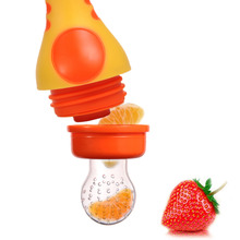 2017 New Infant Newborn Fruits Vegetable Fresh Food Feeder Nipple Pacifier Safe Pacifier Bottles For baby girl & boy 3 Color(China)