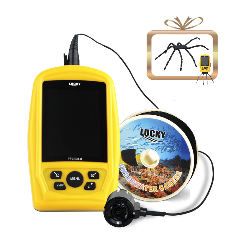 LUCKY Portable Underwater Fishing Kamera & Inspektions System CMD sensor 3,5 tommer TFT RGB Vandtæt Monitor Fish Sea 20M Cable
