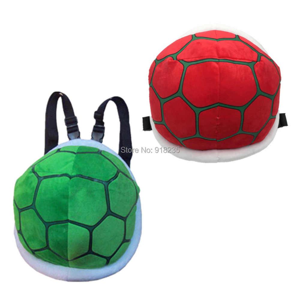 Super Mario Bros Fofo Koopa Troopa Pelúcia Mochila Saco Turtle Shell Travesseiro Boneca