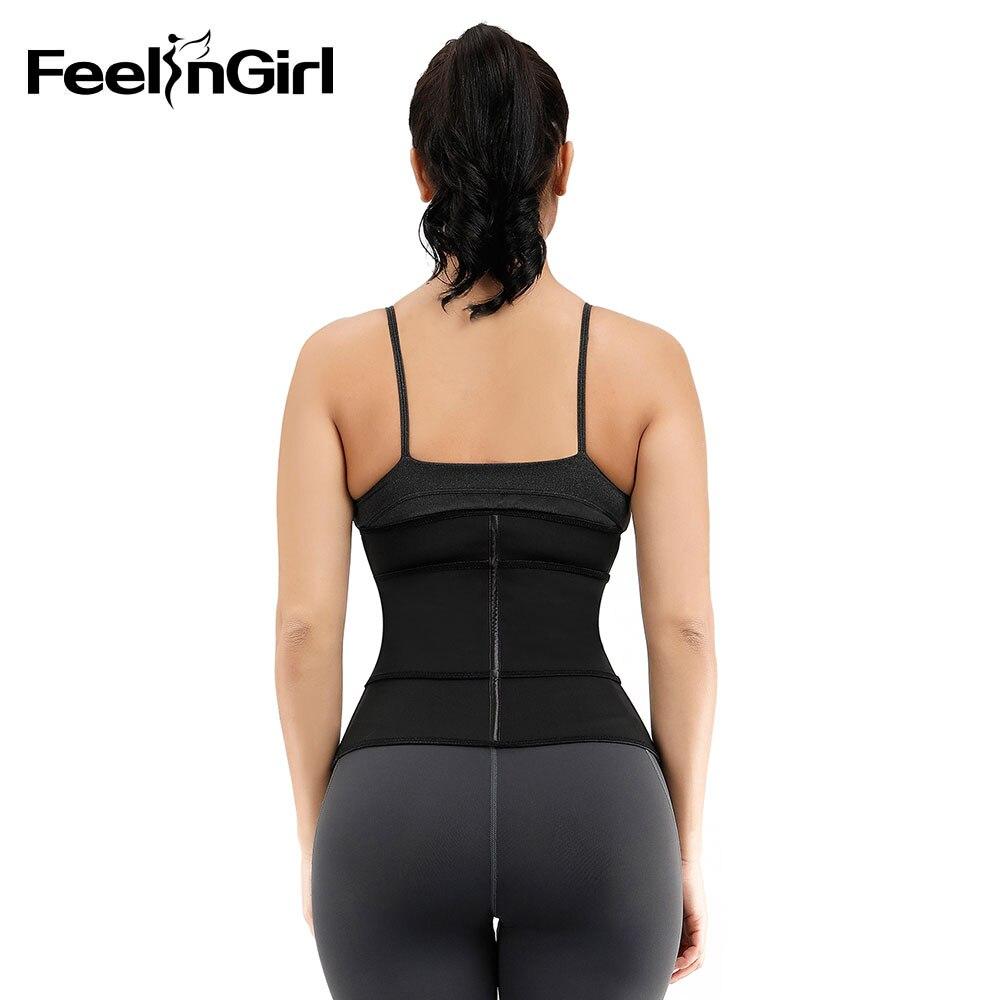 FeelinGirl femmes Double couche Shapewear 7 os en acier élastique Shaper Enhancer contrôle du ventre minceur taille formateur ceinture - 3