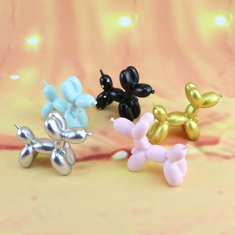 1PC Classic Plating Balloon Dog Sculpture Animals Statue Craftwork Decoration Gift Purely Manual Art Crafts Living Room MO 018