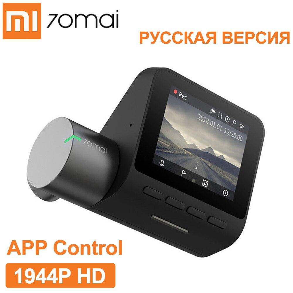70mai Dash Cam Pro Russian Version Smart WiFi Car DVR HD 1944P Camera APP Control Real-time Video WDR G-sensor Night Vision FOV