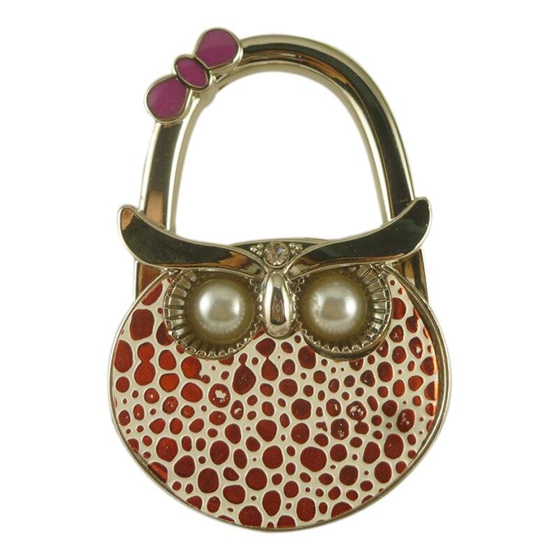 Cute Owl Hanger Foldable Bag Hook Handbag Holder Metal Table Hook @LS(China)