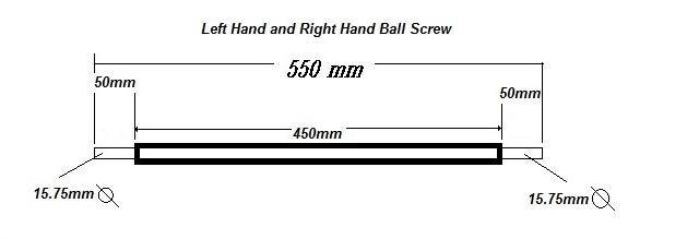 6pcs SFU2005 - 550mm RM2005 - 550mm Rolled Ball screw +6pcs ballnut + according to drawing CNC parts ld7530pl ld7530 sot23 6
