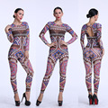 New Sexy Bodysuits Geometric Pattern Transparent Nigth Club Rompers Women Sexy Bodycon Elastic Stretch Sexy Skinny Bodysuits