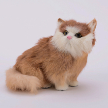 Simulation yellow cat polyethylene&furs cat model funny gift about 15cmx9cmx13cm
