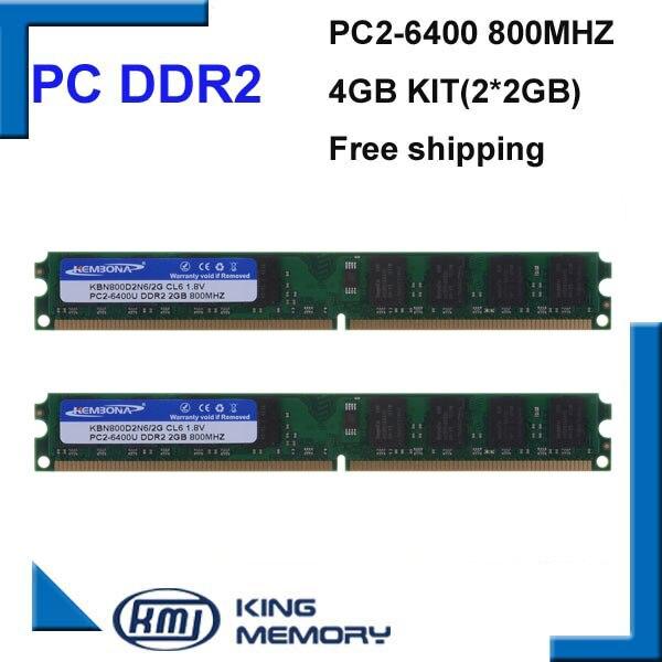 KEMBONA DDR2 800 Mhz 4 GB 800D2N6/2G (Kit von 2,2X2 GB Dual Channel) PC2-6400 Brand New Dimm-speicher Ram Für desktop-computer