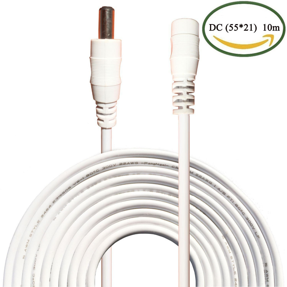 10M DC Power Extension Cable DC Jack Female to Male Plug Cable Adapter Extension Cord Connector for Camera CCTV LED Monitor  5
