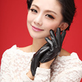 girls lady zipper party gloves  gift performance dress leather short fashion star T show fashion gloves