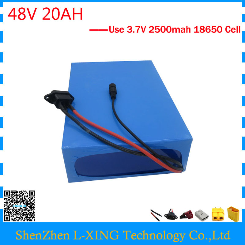 Free customs duty 48V 1000W lithium battery 48V 20AH ebike battery 48 V 20AH electric bike battery with 30A BMS 54.6V 2A Charger 1200w 48v scooter battery electric bike battery 48v 20ah lithium ion battery pack with pvc case 30a bms 54 6v 2a charger