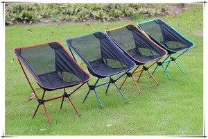 De alta resistencia de aleación de aluminio plegable de La Luz, silla para pesca al aire libre Camping de picnic Silla de playa otras herramientas para pescar
