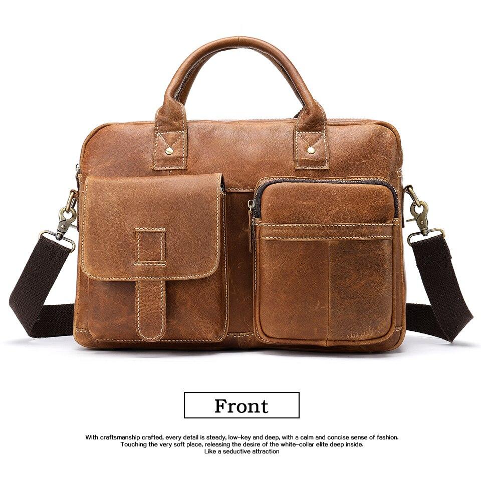 HTB1eZrzazDuK1Rjy1zjq6zraFXaI WESTAL men's briefcase bag men's genuine Leather laptop bag office bags for men business porte document briefcase handbag 8503