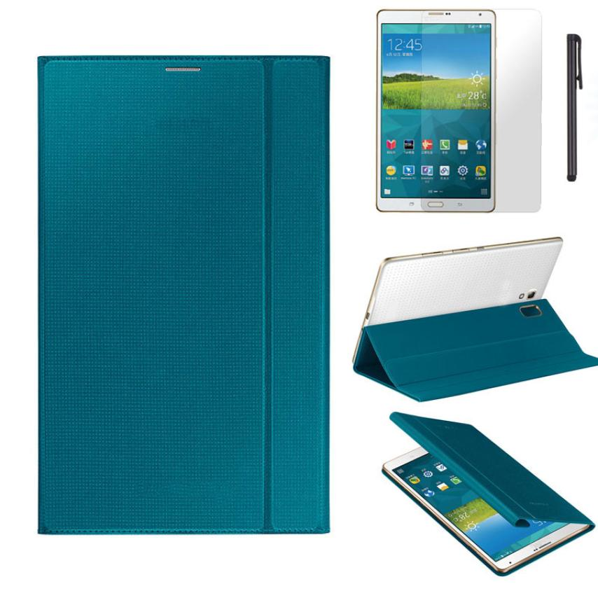 #AE Ultra Slim Tablet PU Leather Cover Case for Samsung Galaxy Tab S 8.4 Inch T700/T705 with Film and Pen