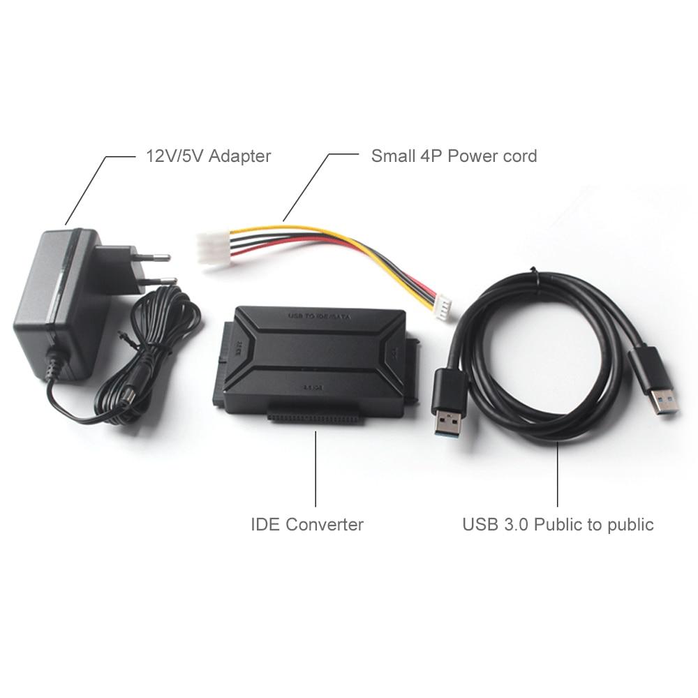 Image 4 - USB 3,0 на SATA IDE Внешний жесткий диск конвертер для 2,5 и 3,5 дюймов HDD SDD IDE адаптер (ЕС plug)