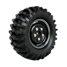 4Pcs 1 9 1 10 RC Crawler Tires 96mm Alloy Wheels Rims 12mm Hex Hub For