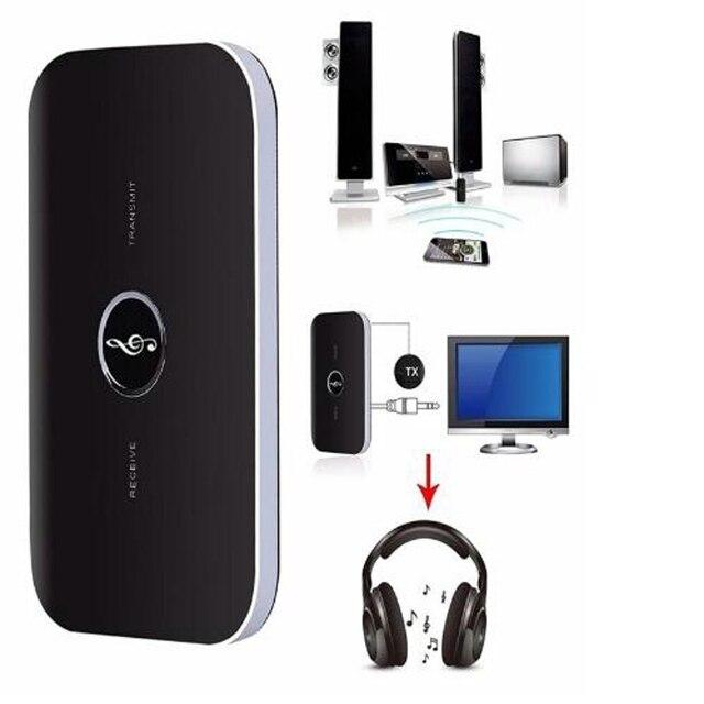 Фото 2 в 1 аудиоприемник bluetooth передатчик для звуковой системы цена