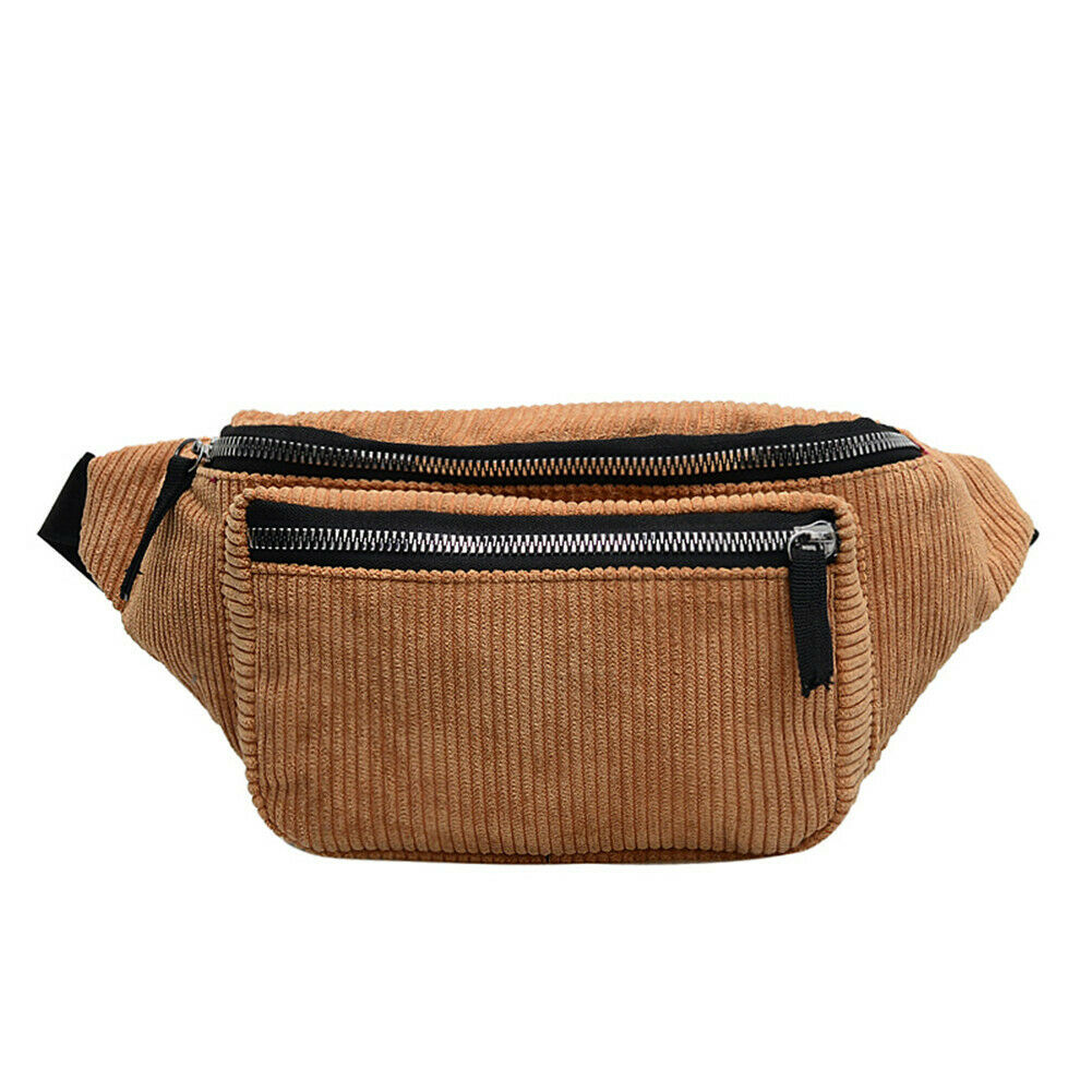 Classic Fanny Pack Corduroy Women's Waist Bag Outdoor Leisure Holiday Pochete Chest Bag Heuptas