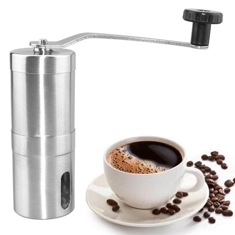 Portable Manual Coffee Grinder Maker Stainless Hand Steel Coffee Bean Grinding Machine Mill Cafe Burr Mill Grinder hand coffee grinder 160ml portable manual handcrank coffee bean spice mill kitchen tool coffee stainless steel abs glass