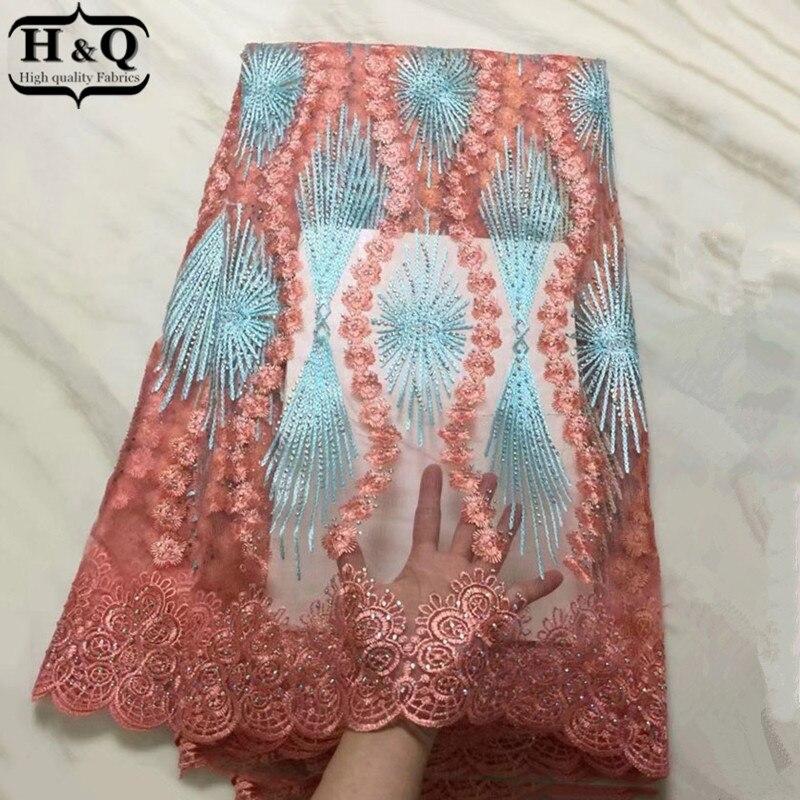 아름 다운 디자인 프랑스어 얇은 명주 그물 레이스 5 야드/조각 아프리카 그물 레이스 신부 들러리 긴 드레스에 대 한 고품질 2019 guipure 레이스-에서레이스부터 홈 & 가든 의  그룹 1